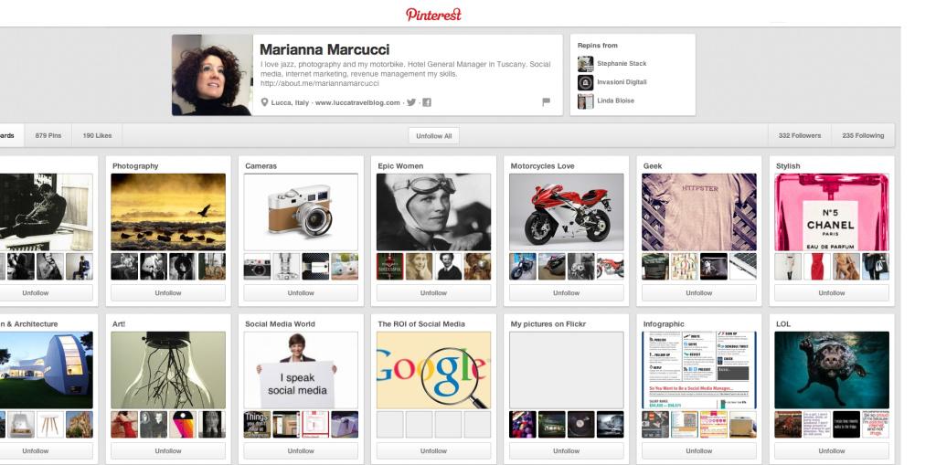 Pinterest Profilo