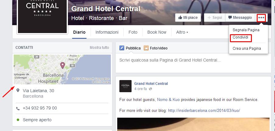 Nuove pagine Facebook per hotel