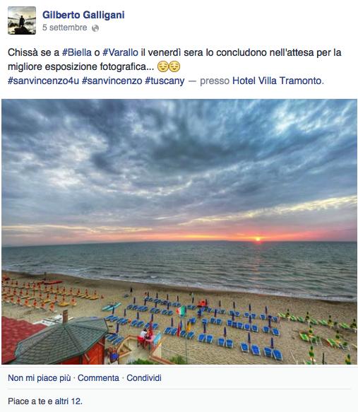 esempio post facebook hotel