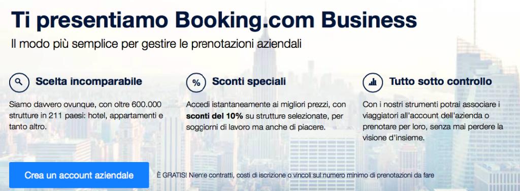 Convenzioni aziendali Booking.com