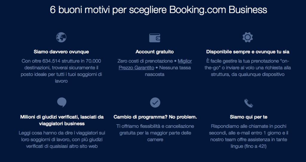 Booking.com e prenotazioni di aziende