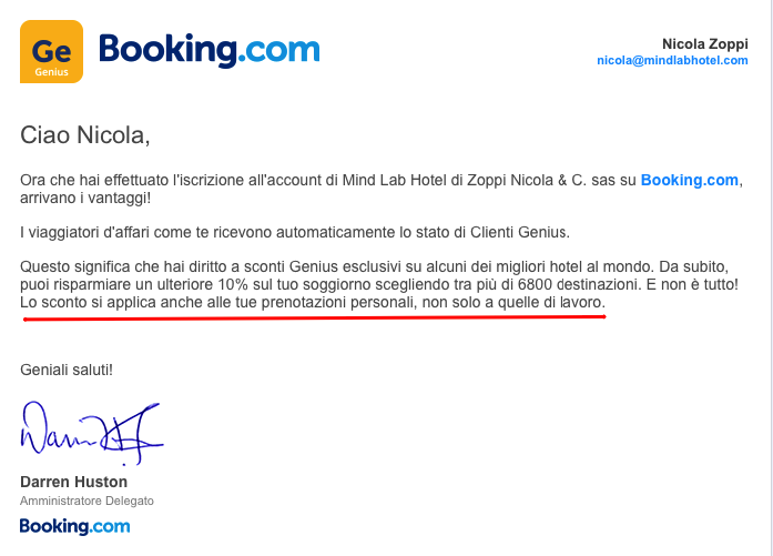 Booking.com Genius