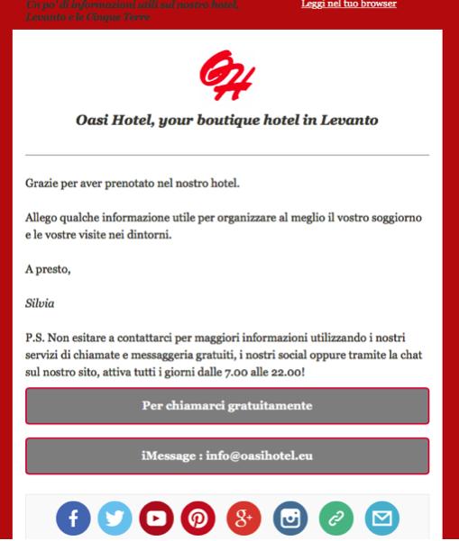 WhatsApp e iMessage per comunicare con i clienti di Booking.com
