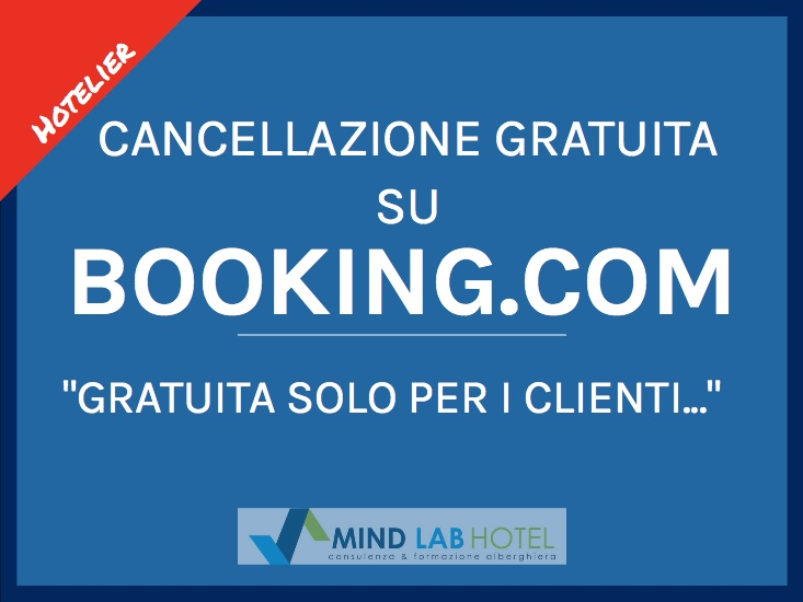 La cancellazione su Booking.com
