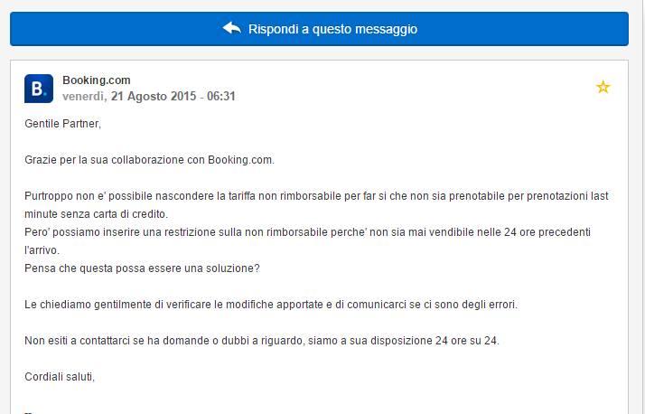 Booking.com e vendita camere