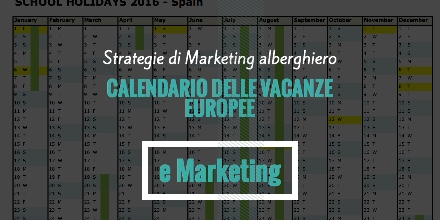 Calendario delle vacanze europee e marketing