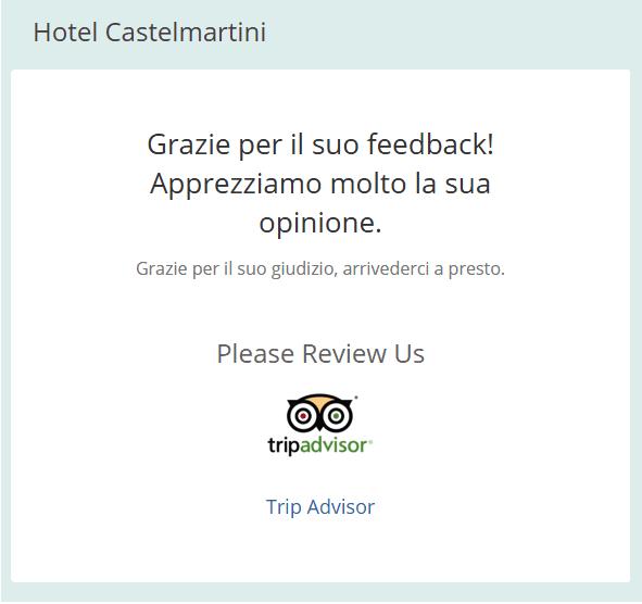Richiesta feedback hotel