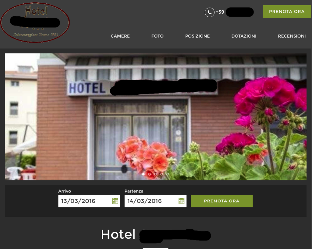 Booking.com e layout