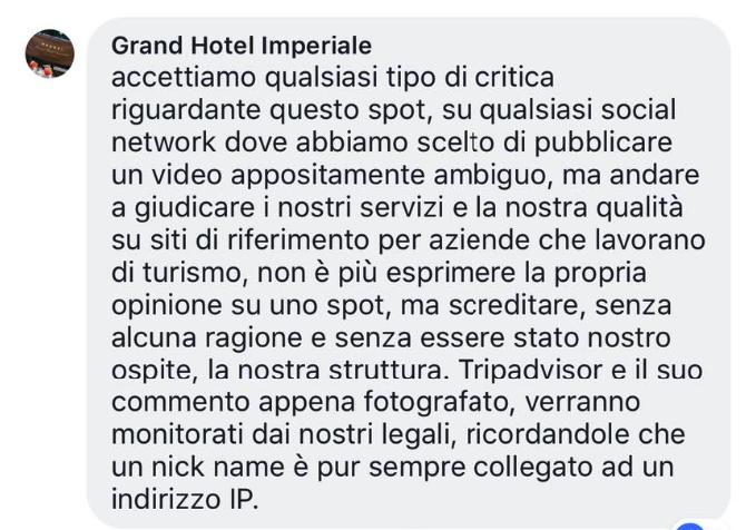 La risposta del grand hotel imperiale