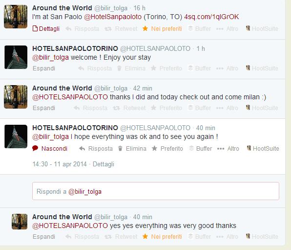 Twitter marketing in hotel