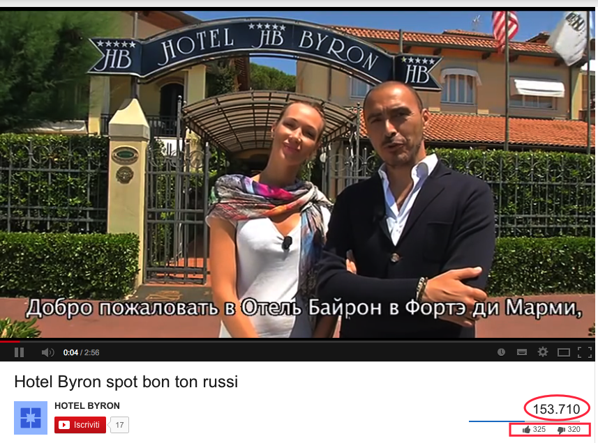 video hotel byron