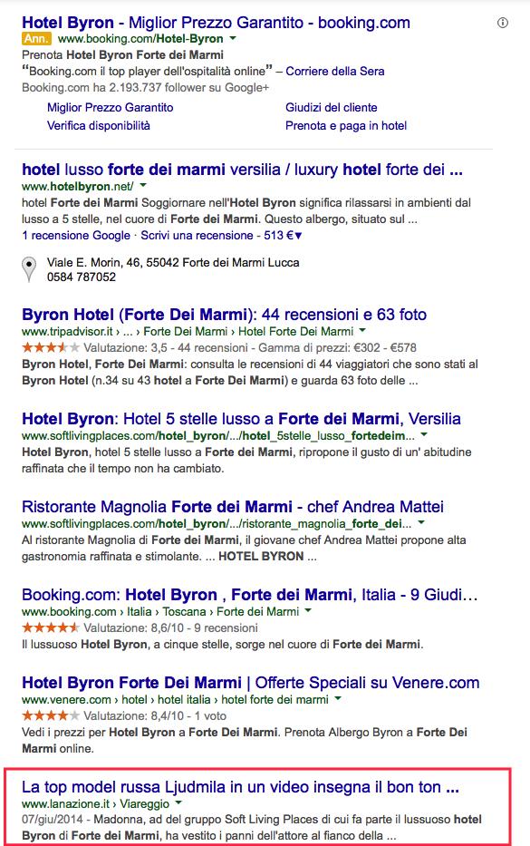 hotel su google