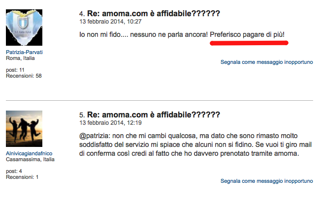 discussione sul forum