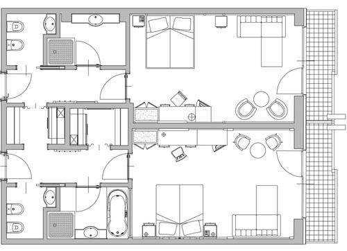 Progettazione camera hotel