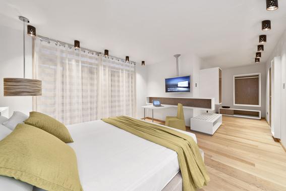 Hotel Cristallo Green Room