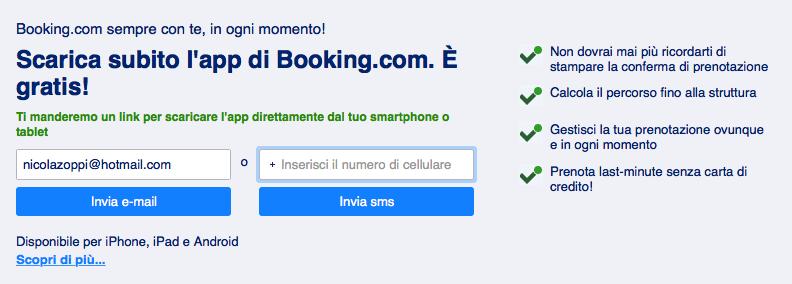 Prenotazione con Booking.com