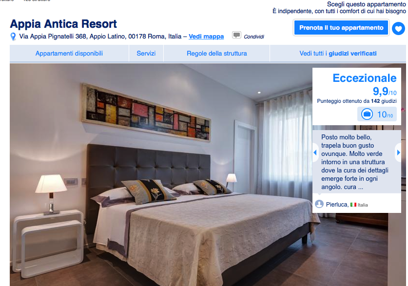Recensioni su Booking.com