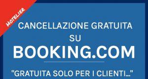La cancellazione su Booking.com
