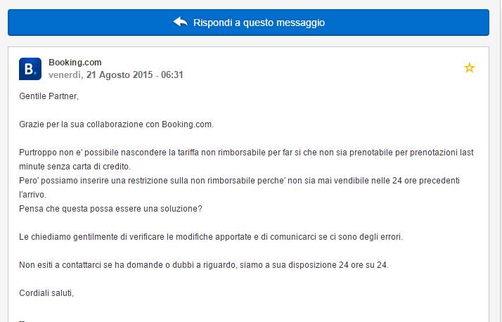 Booking.com e vendita camere