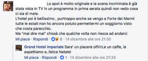 Commenti su Facebook Grand Hotel Imperiale